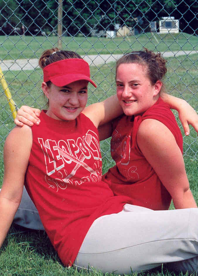 Amanda and I softball picture for the 2002 summer